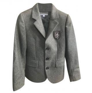 Gucci Tweed & Leather Kids Blazer