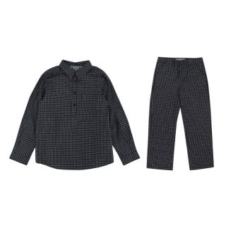 Bonpoint Boys Black Checked Two Piece