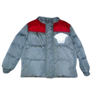 Young Versace Boys Grey Logo Puffer Jacket