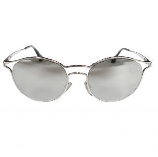 Prada SPR62S Silver Mirrored Sunglasses