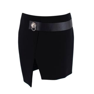 Versus Versace Black Head Embellished Mini Skirt
