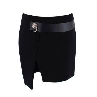 Versus Versace Black Head Embellished Mini Skirt