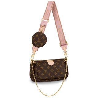Louis Vuitton Monogram Rose Clair Multi Pochette Accessoires