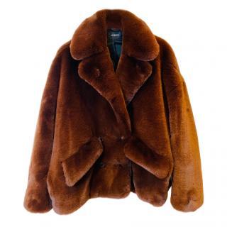 The Kooples Teddy Faux Fur Coat