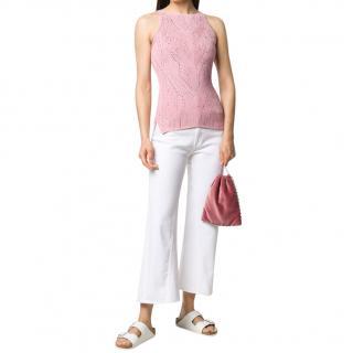 Ermanno Scervino Pink Studded Sleeveless Knit Vest