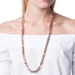 Eddie Borgo 12kt Rose Gold Vermeil Supra Link Necklace