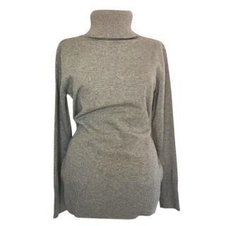 Max Mara Wool Roll Neck Grey Knit Jumper