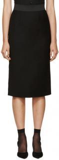 Dolce & Gabbana Stretch Crepe Black Skirt