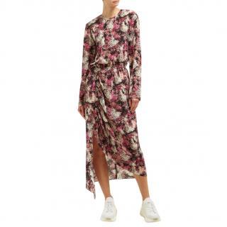 Raey Pink Watercolour Floral Print Dress