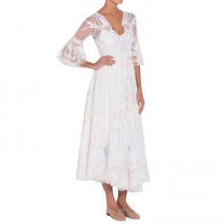 Temperley London Embroidered Mast Midi Dress