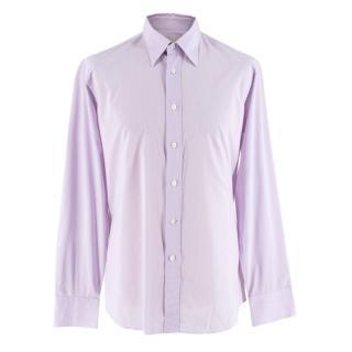 Prada Purple & White Striped Cotton Shirt