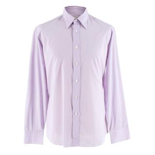 Prada Purple & White Striped Cotton Shirt