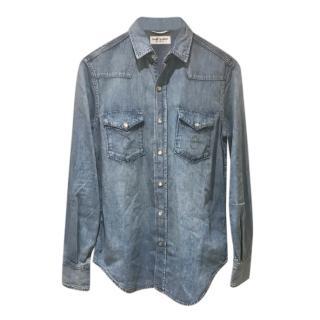 Saint Laurent Blue Denim Shirt