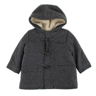 Bonpoint Kid's Grey Wool Duffle coat