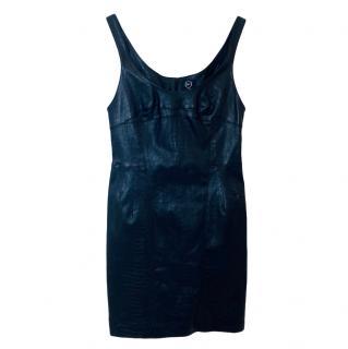 McQ by Alexander McQueen Croc Embossed Sleeveless Dress
