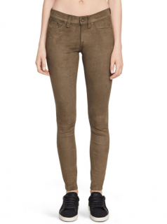 Rag & Bone stretch suede skinny pants
