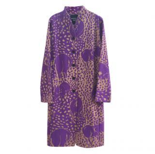 Bitte Kai Rand Purple Printed Longline Coat