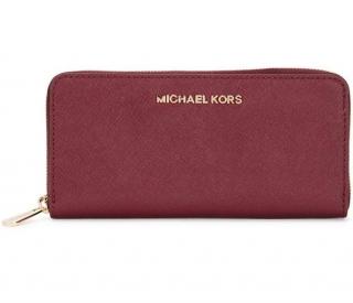 Michael Kors Jet Set Burgundy Saffiano Leather Wallet