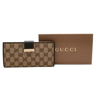 Gucci GG Plus Monogram Continental Wallet