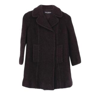 Dolce & Gabbana Black Wool Coat
