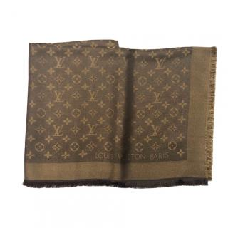 Louis Vuitton Monogram Silk Blend Shine Shawl