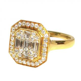 Bespoke 18ct Yellow Gold Fine Brilliant Diamond Set Ring