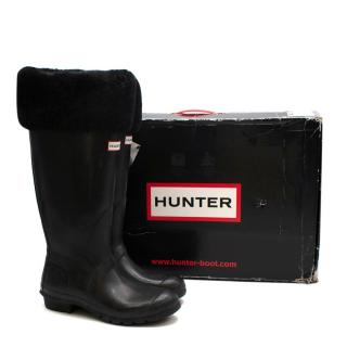 Hunter Boot Original Shearling Fur-Cuff Wellington Boots