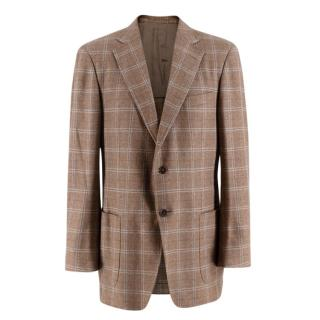 Ermenegildo Zegna Checkered Cashmere Blazer