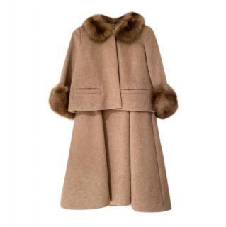 Alena Akhmadullina Bespoke Cashmere A-Line Skirt & Jacket