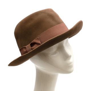 Giorgio Armani Brown Felt Fedora Hat