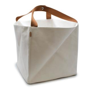 Hermes Off-White Canvas Folded Box Tote