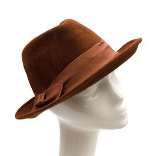 Marie Mercie Brown Felt Hat