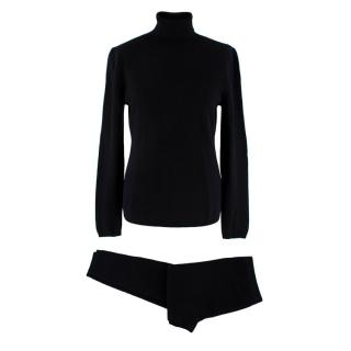Duca si San Giusto Black Cashmere Top and Trouser Set