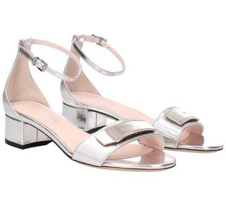 Bally Mirrored Metallic Hedwige Sandals
