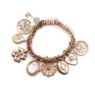 Anne Klein Rose Gold Tone Charm Watch Bracelet