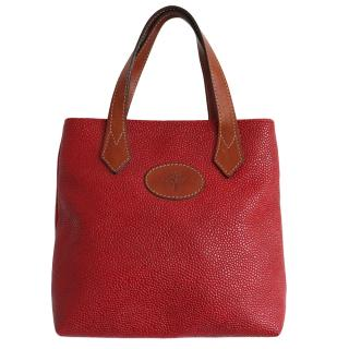 Mulberry Red Vintage Scotchgrain Leather Tote
