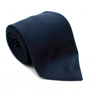 E.Marinella Navy Silk Tie with Lady Bird Embroidery