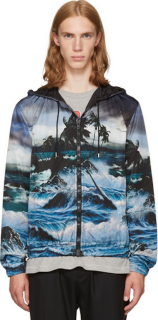 Givenchy Hawaiian Print Windbreaker Jacket