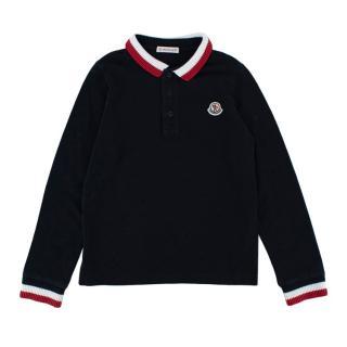 Moncler Navy Cotton Long-Sleeve T-shirt