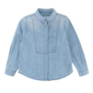 Gucci Kid's Blue Cotton Denim Shirt