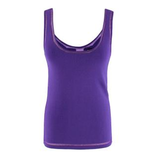 Tom Ford Purple Tank Top with Sheer Detail