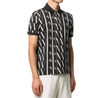 Valentino VLTN-print cotton polo shirt