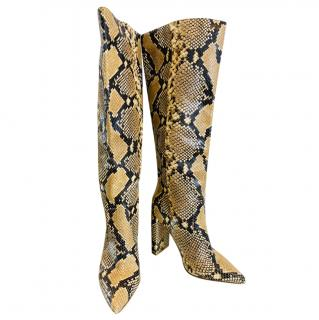 Naked Wolfe Snakeskin Print Twiggy Boots