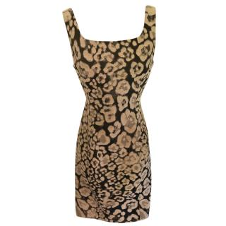 Armani Collezioni Animal Print Sleeveless Shift Dress