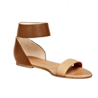 Chloe Taffy Brown Flat Sandals