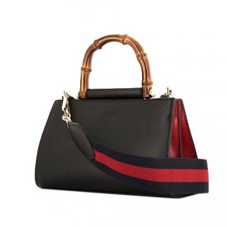 Gucci Nymphaea Mini Bamboo Top Handle Bag