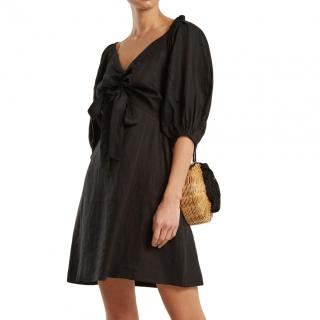 Zimmermann Linen Black Painted Heart Dress