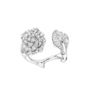 Dior 18kt White Gold & Diamonds Rose Dior Bagatelle Ring