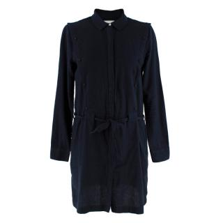 Les Coyotes De Paris Navy Shirt Dress