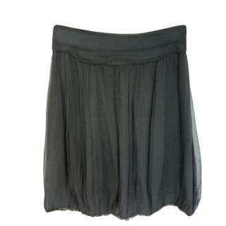 Burberry Black Chiffon Pleated Skirt